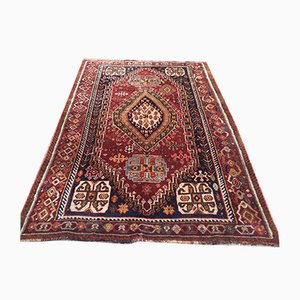 Vintage Traditional Middle East Handmade Wool Shiraz Rug