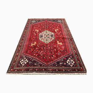 Vintage Traditional Middle East Handmade Wool Shiraz Rug