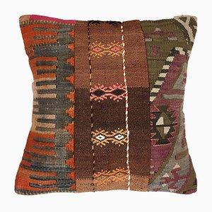 Turkish Moroccan Colorful Luxury Wool Kilim Cushion Cover