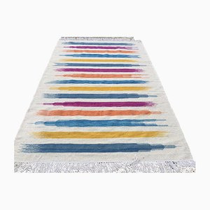 Vintage Turkish Modern Wool Kilim Rug