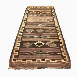 Large Vintage Turkish Moroccan Wool Kilim Rug