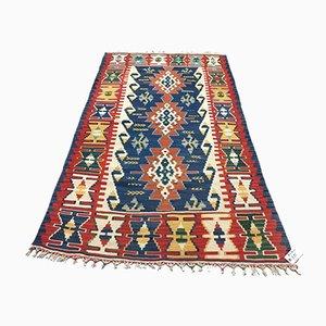 Vintage Turkish Handmade Wool Kilim Rug