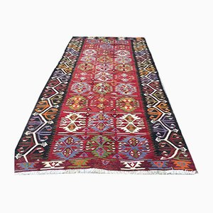 Vintage Turkish Wool Country Home Kilim Rug