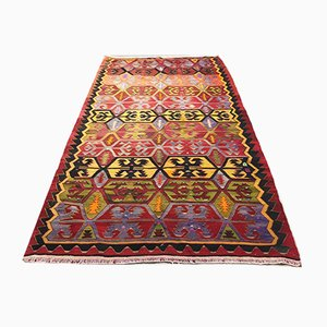 Vintage Turkish Wool Country House Kilim Rug