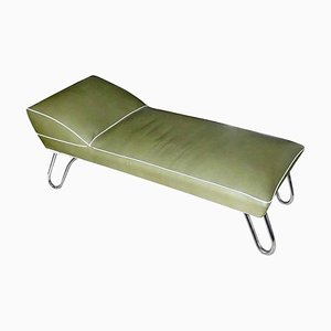Art Deco Bauhaus Style Tubular Chrome Daybed by K.E.M. Weber for Lloyd, 1930s