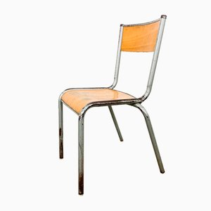 Vintage French School Chair by Mullca, 1950s
