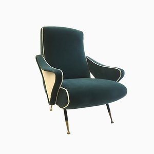 Mid-Century Italian Lounge Chair in the Style of Nino Zoncada