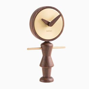 Nena G Walnut Clock by Andrés Martínez for Nomon
