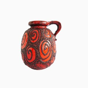 Grand Vase Rouge de Scheurich, Allemagne, 1960s