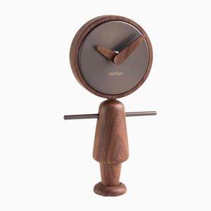 Horloge Nene T en Noyer par Andrés Martínez pour Nomon