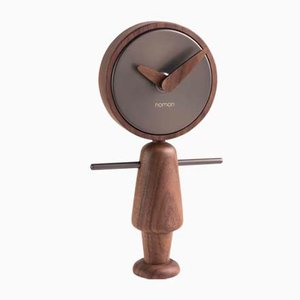 Nene T Walnut Clock by Andrés Martínez for Nomon
