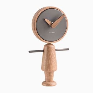 Nene T Oak Clock by Andrés Martínez for Nomon