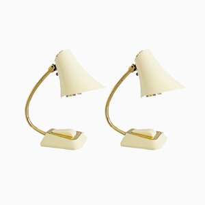 German Tilting Table Lamps, 1950s, Set of 2