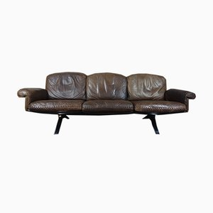 Vintage Leather Model DS31 3-Seater Sofa from de Sede, 1970s
