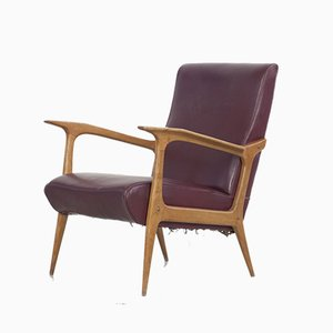 Italian Lounge Chair by Farina Morez Ruggero , 1950s