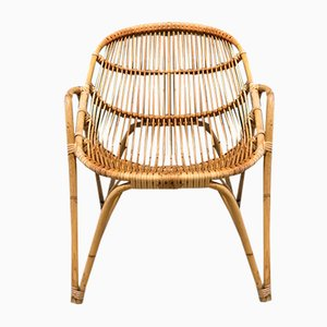 Bamboo and Rattan Easy Chair, 1960s