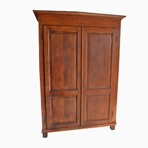 Antique Dutch Oak Cabinet with Shelves
