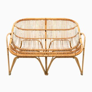 Danish Bamboo and Rattan Sofa, 1960s