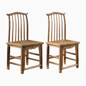 Antique Jumu Side Chairs, Set of 2