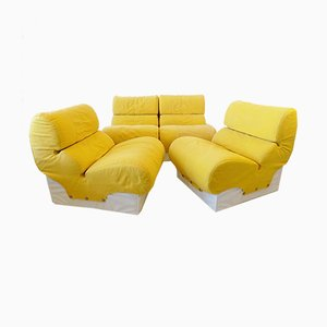 Softline Modular Lounge Chairs by Otto Zapf for Zapf, 1970s, Set of 4