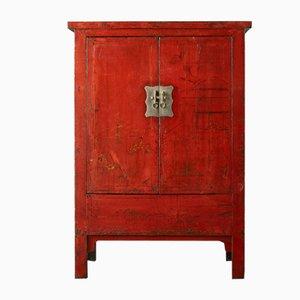 Armario de novia Shanxi lacado en rojo