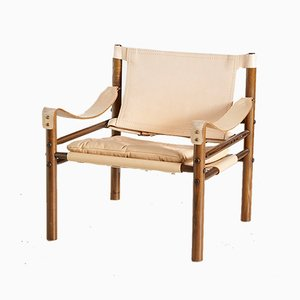 Chaise Safari en Cuir Cr