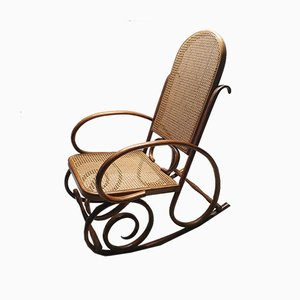 Bentwood & Webbing Rocking Chair from Thonet, 1930s