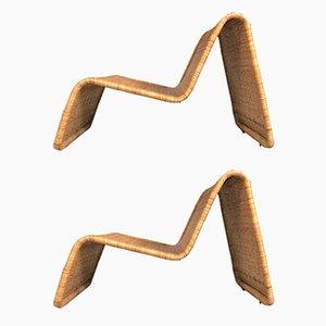 Fauteuils Vintage en Rotin de Ikea, Set de 2