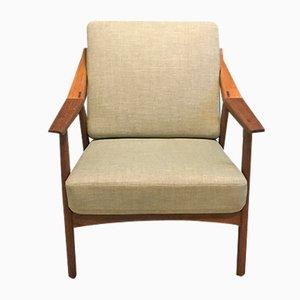 Danish Oak Lounge Chair by Brockmann-Petersen, 1950s