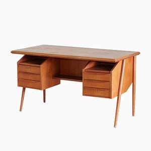 Vintage Danish Teak Desk by Gunnar Nielsen Tibergaard, 1960s