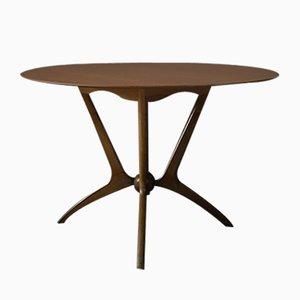 Mid-Century Round Spider Leg Dining Table