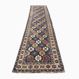 Antique Caucasian Kouba Runner Rug