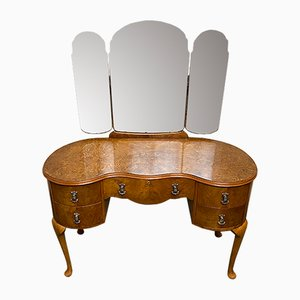 Burr Walnut Kidney-Shaped Dressing Table, 1920s
