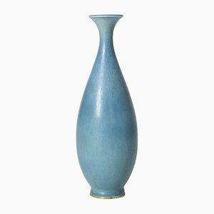 Blue Stoneware Vase by Berndt Friberg for Gustavsberg, 1950s