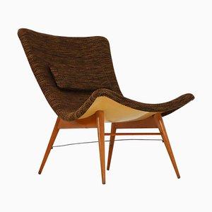 Mid-Century Modern Fiberglass Lounge Chair by Miroslav Navratil CZ, 1959