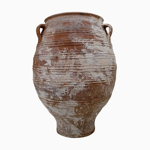 Large Greek Patinated Terracotta Urn, 1950s