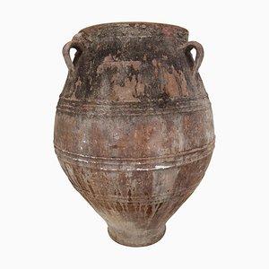 Großer antiker patinierter griechischer Terrakotta Krug