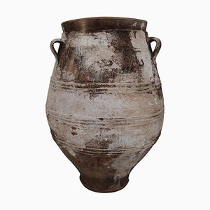 Antique Large Greek Patinated Terracotta Jar