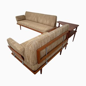 Teak Minerva Sofas by Hvidt & Mølgaard for France & Søn, 1960s, Set of 3