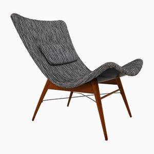 Mid-Century FIberglass Lounge Chair by Miroslav Navratil for Cesky Nabytek, 1950s