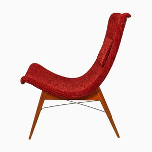 Fiberglass Lounge Chair by Miroslav Navratil, 1959