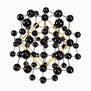 Structure Moléculaire Mid-Century de Prague en Noir et Jaune, 1950s