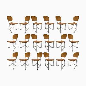 Schweizer Esszimmerstühle von Armin Wirth für Hans Zollinger Sohre, 1960er, Set of 20