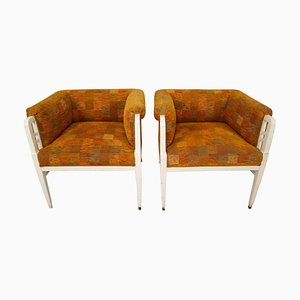 Antique Austrian Art Nouveau Armchairs, Set of 2