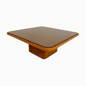 Swiss Patinated Cognac Leather DS-47 Coffee Table from de Sede, 1970s