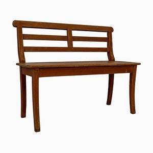 Antique German Hall Bench in Pine