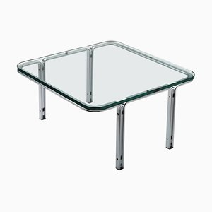 Tisch aus Kristallglas und Chrom von Horst Bruning für Kill International, 1970er