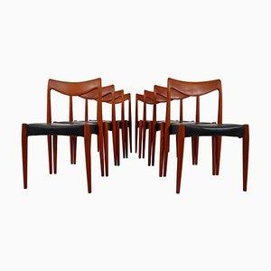 Norwegian Teak Bambi Chairs by Rolf Rastad & Adolf Relling for Gustav Bahus, 1960s, Set of 8