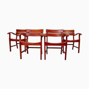 Französische Garten Patio Stühle aus Buche, 1950er, 4er Set