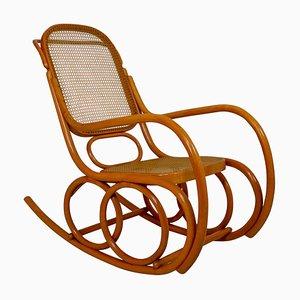 Rocking Chair en Bois Courbé, Autriche, 1950s